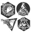 Vintage mexican food emblems vector image