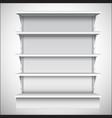 White supermarket shelves vector image