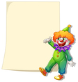 An empty space with a clown vector image vector image