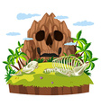 Animal skull on island vector image