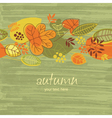 autumn illustration vector image vector image