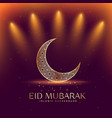 beautiful eid mubarak festival with crescent moon vector image vector image