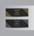 black banners with glittering lattice angles vector image vector image