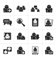 Black Social Media and Network icons vector image vector image