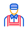 car repairman icon outline vector image