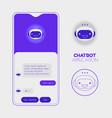 chatbot mobile app concept trendy flat design vector image
