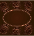 chocolate swirl waves and glowing frame border vector image vector image