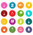 cleaning tools icons set colorful circles vector image vector image