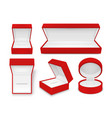 collection empty plush gift box jewelry vector image