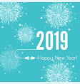 connecting to the new year vector image vector image