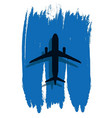 contour of an airplane in the abstract sky vector image vector image