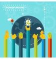 Creative World Crowd Funding Concept Design vector image vector image
