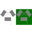 crossed and single racing race flags isolated on vector image