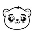cute panda bear face vector image