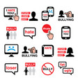cyberbullying bullying online other people vector image