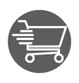 delivery cargo service shopping cart fast shipping vector image