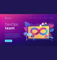 devops team concept landing page vector image vector image