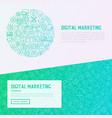 digital marketing concept in circle vector image vector image