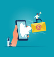 digital online marketing and social media vector image vector image