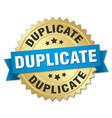 duplicate round isolated gold badge vector image vector image
