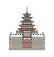 famous south korean pagoda icon sketch cartoon vector image vector image