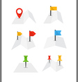folded abstract city map with collection flags vector image