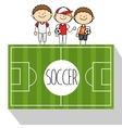 football soccer vector image
