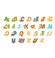 funny animal alphabet vector image vector image