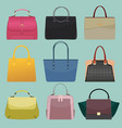 glamour fashion bags vector image vector image