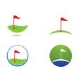 golf symbol vector image