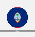 guam round circle flag vector image
