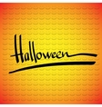 Halloween frame Hand lettering vector image vector image