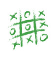 hand drawing playing tic tac toe on paper vector image vector image