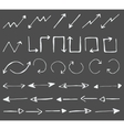 hand drawn arrows icons set vector image vector image