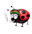 happy amaican lady bug cartoon vector image vector image