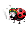 happy amaican lady bug cartoon vetcor vector image