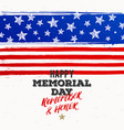 happy memorial day - national american holiday vector image vector image