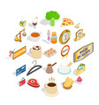 hash icons set isometric style vector image vector image