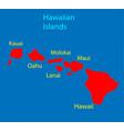 hawaiian islands hawaii us state vector image vector image