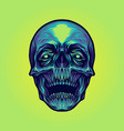 head sugar skull vector image