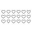 heart line icon romantic love health frame set vector image