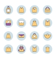 icons set of shopping bags vector image vector image