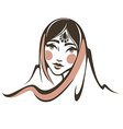 indian beauty vector image