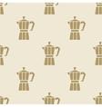 Italian coffee maker moca pattern tile background vector image