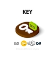 Key icon in different style vector image vector image
