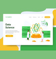 landing page template data science concept vector image vector image
