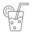 lemonade thin line icon food and drink juice vector image vector image
