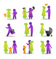 life events icons vector image