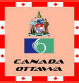 official government elements of canada - ottawa vector image