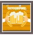 Oktoberfest Festival Celebration Poster Symbol vector image vector image